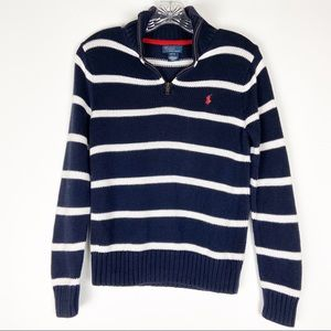 Polo Ralph Lauren Navy and White Striped Sweater